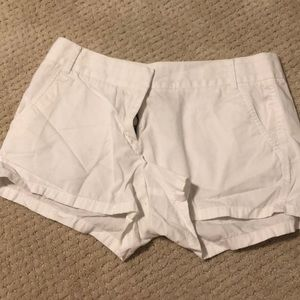 J. Crew white chino shorts